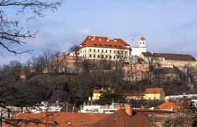 Spilberk Castle in Brno late morning