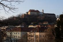 Spilberk Castle in Brno late morning and late afternoon